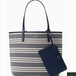 kate spade Bags - Kate Spade Arch Place Mya Stripe Fabric Tote